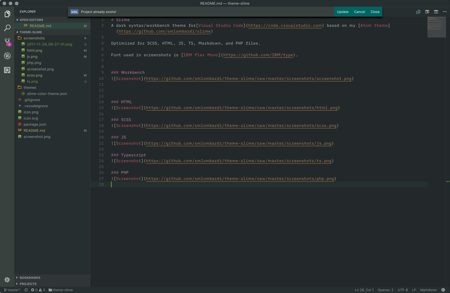 Slime VS Code theme