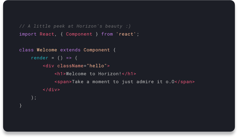 Horizon for VS Code
