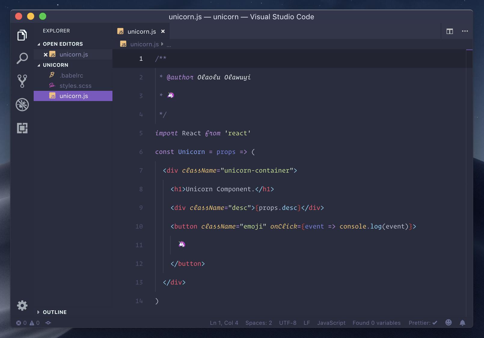 Palenight for VS Code