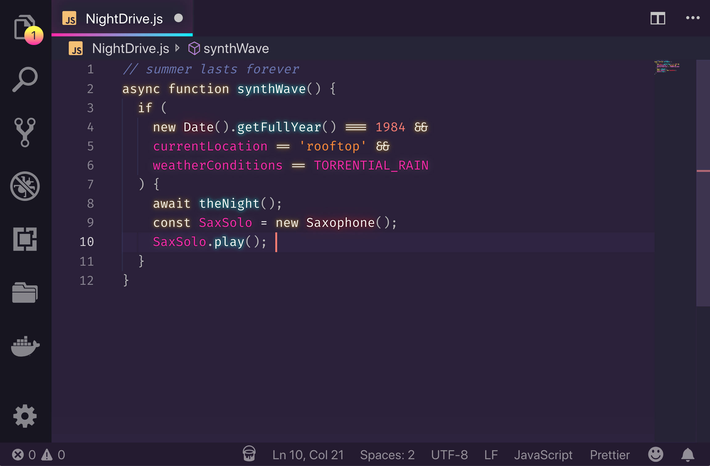 SynthWave  for VS Code
