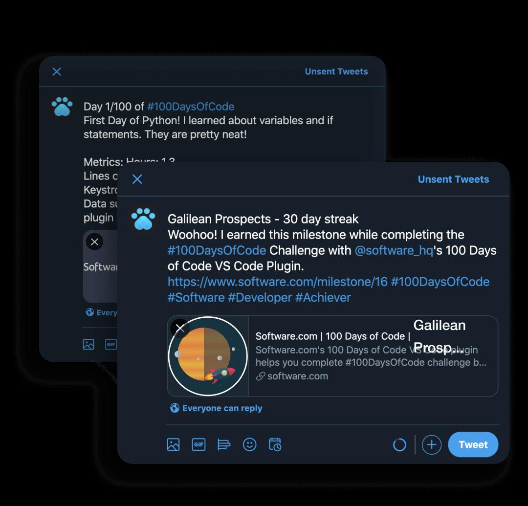 100 Days of Code Twitter
