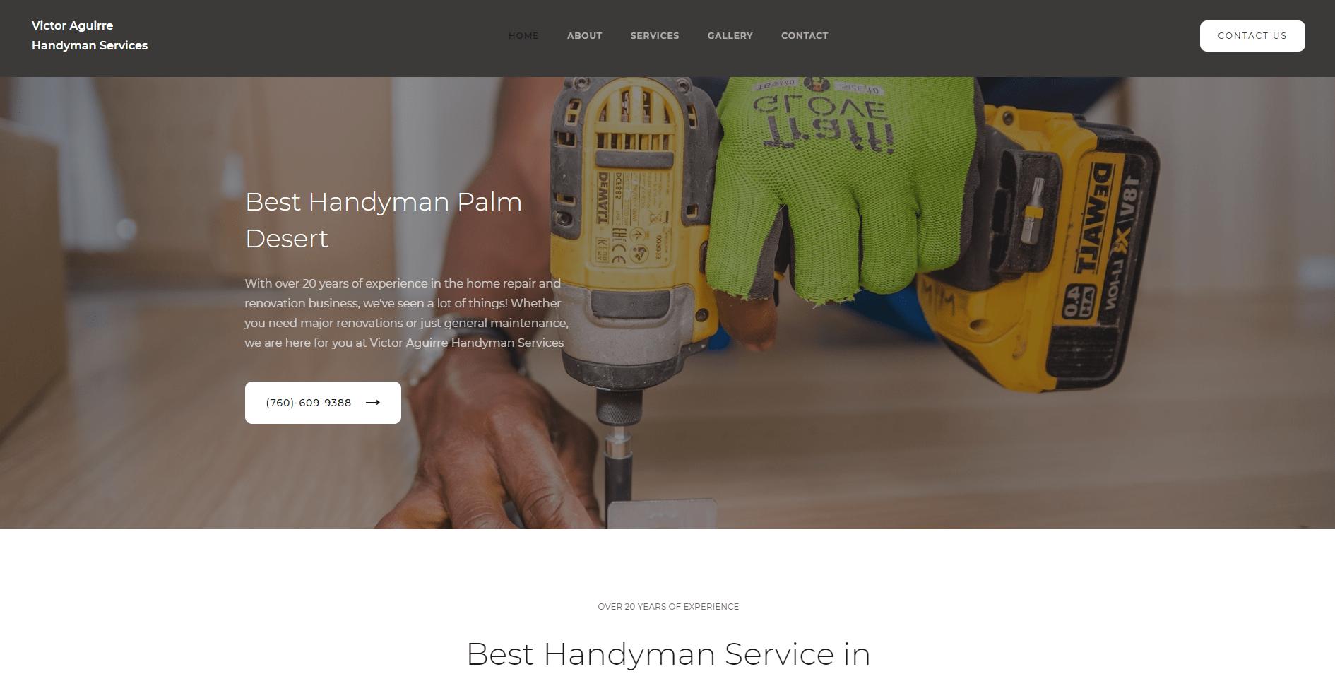 home renovation web design palm springs