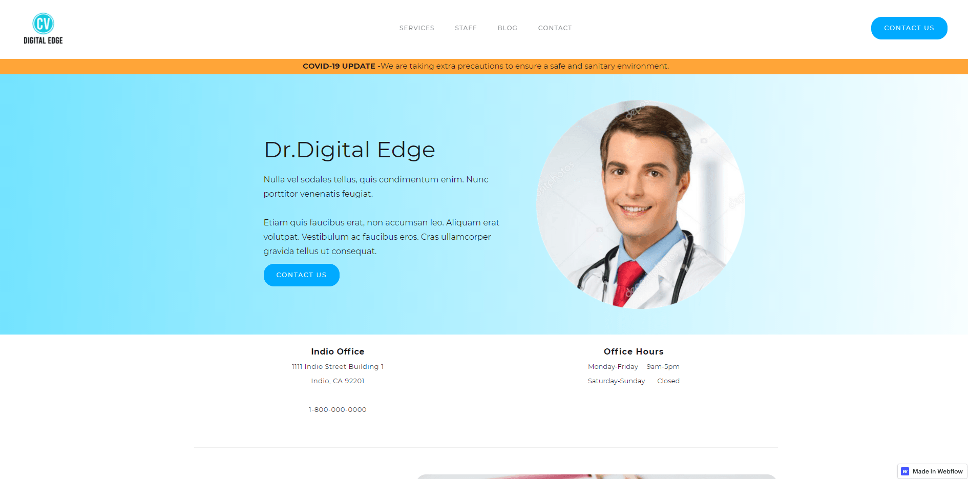 doctor's office web design palm springs