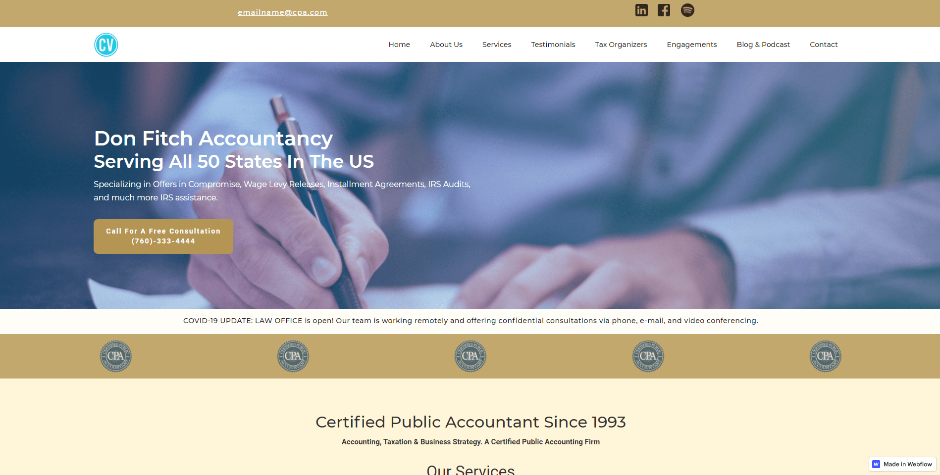 accounting firm web design palm springs