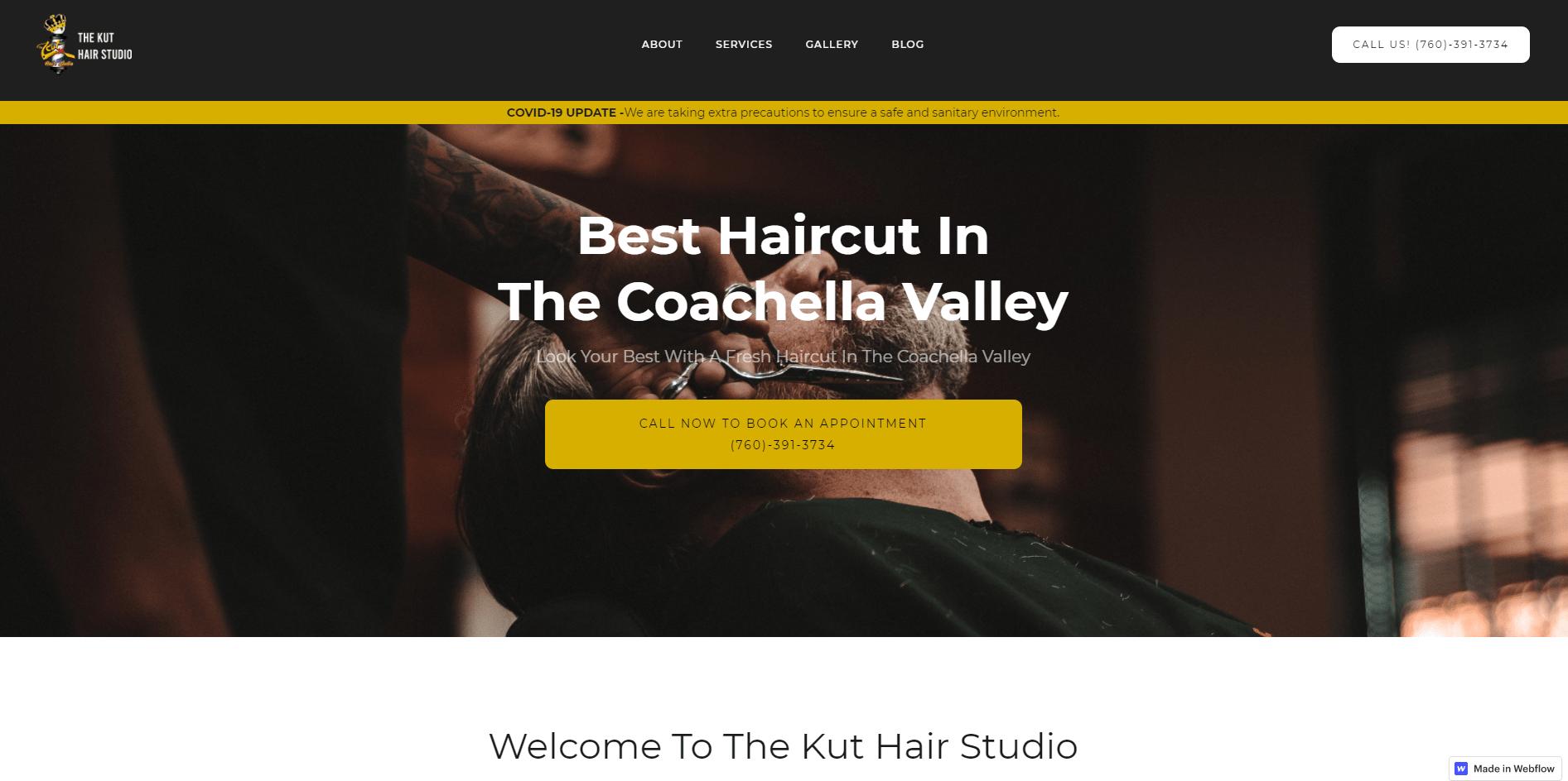 Barbershop web design palm springs