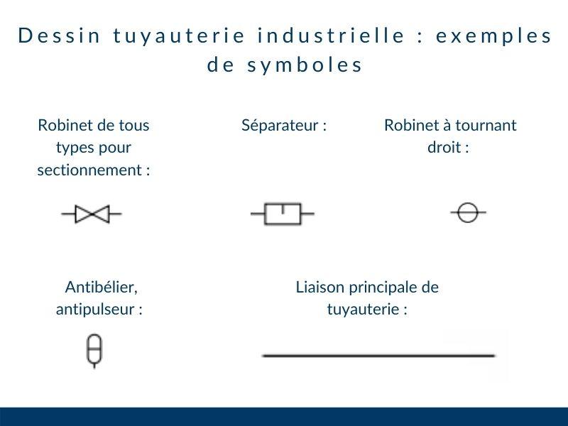 dessin technique de tuyauterie industrielle