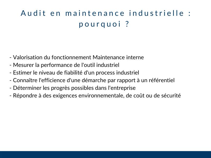 Pourquoi faire un audit industriel
