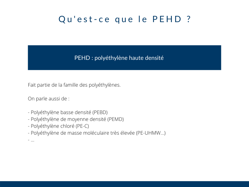 Definition PEHD industrie