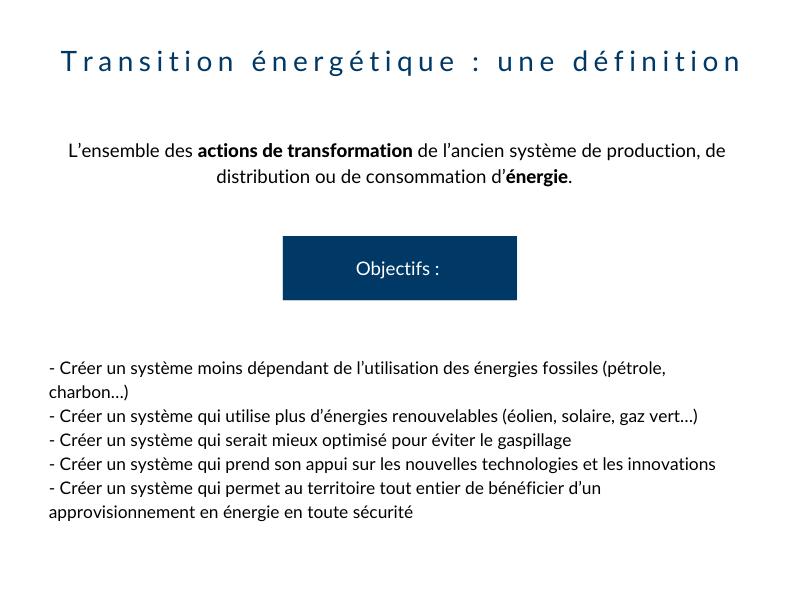 Transition énergétique : une définition