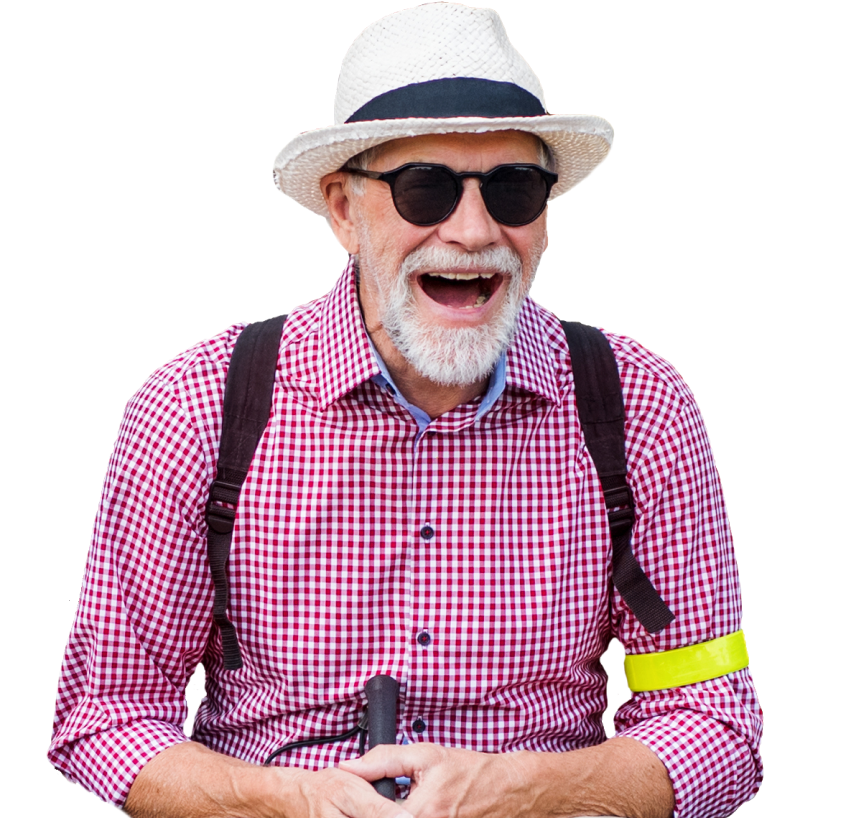 Image of an elderly man smiling.