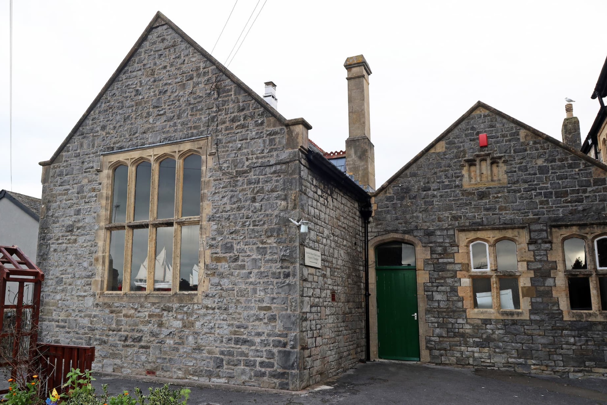 The back entrance of the Old School.