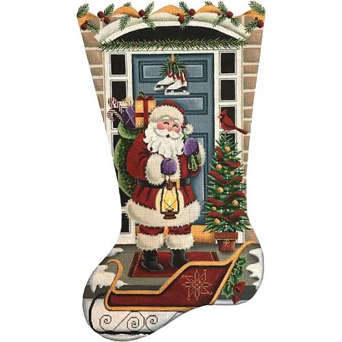 1384 Santa At The Door