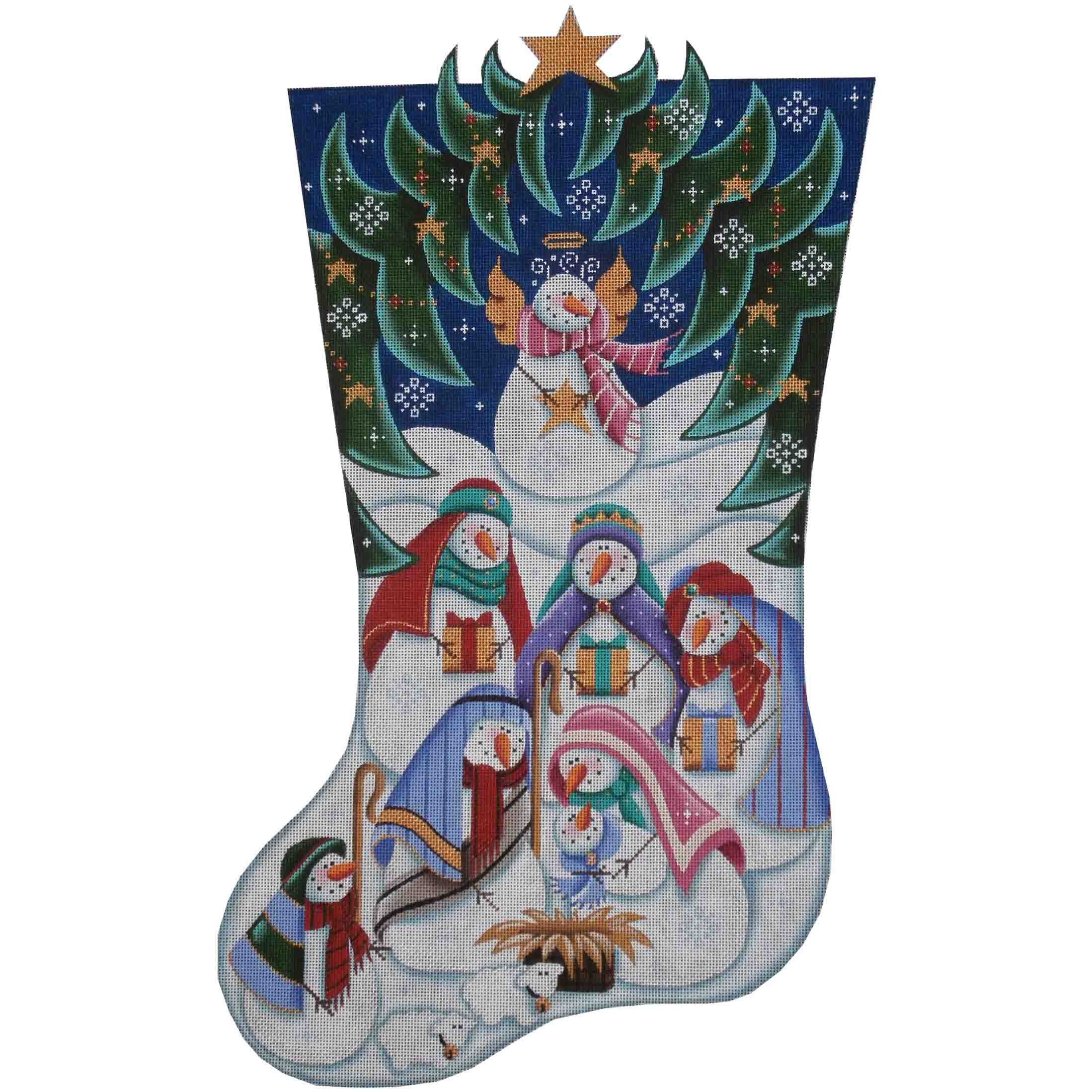 1368 Snowman Nativity