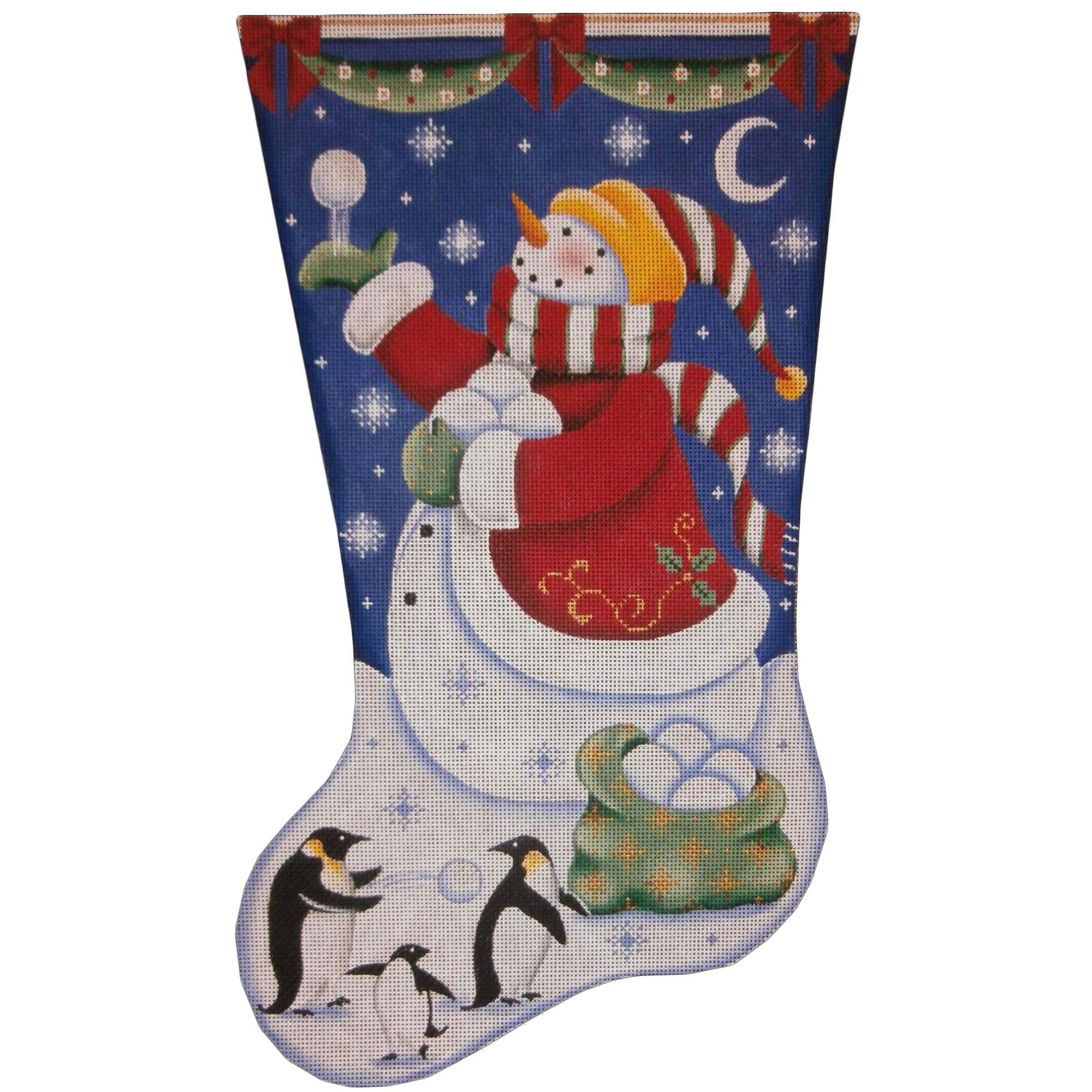 1393c Christmas Penguins
