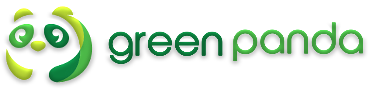 green panda web design logo