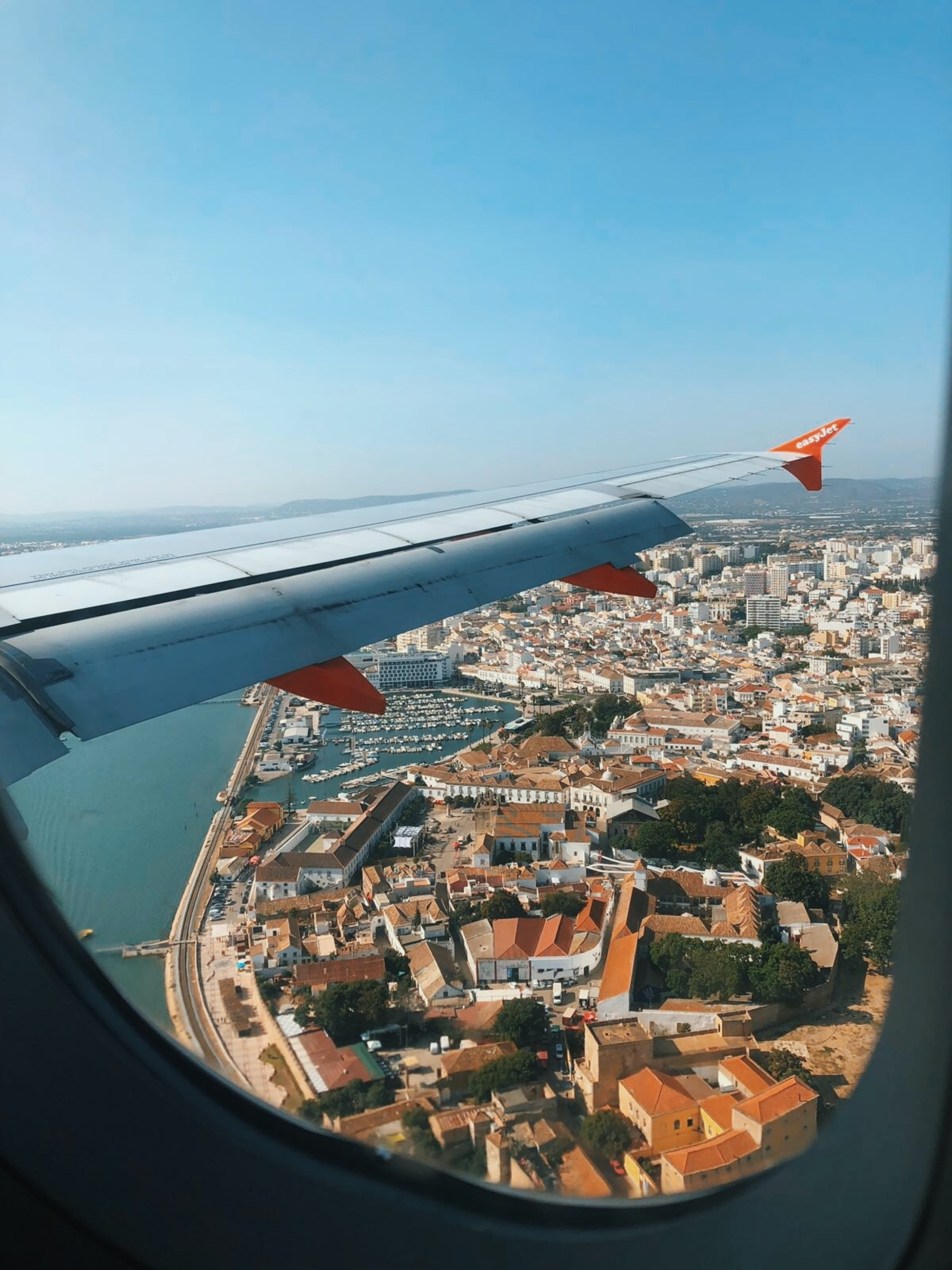 View of Faro from an airplane.