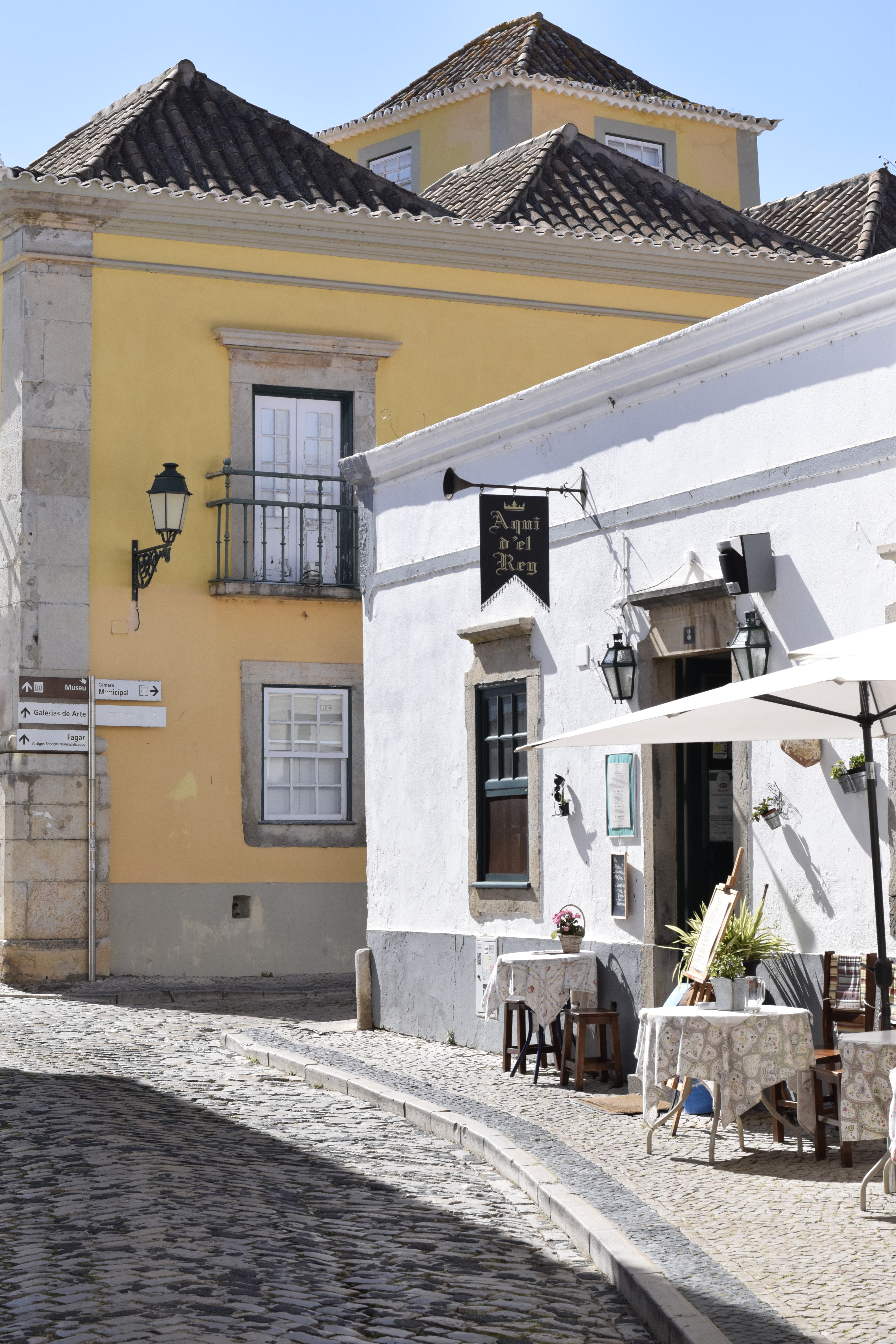 Street of a Portuguese town.