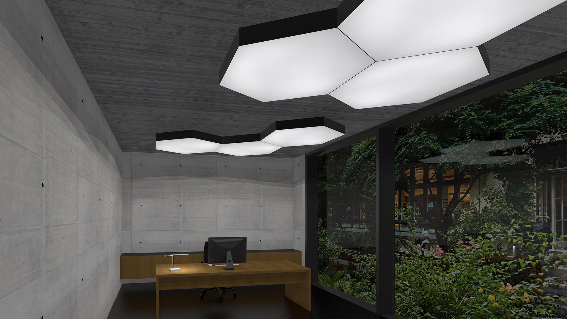 LED Lichtdecke Silentlight HEXA