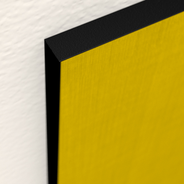 MJUd Akustikrahmenfarbe, schwarz seidenmatt pulverbeschichtet