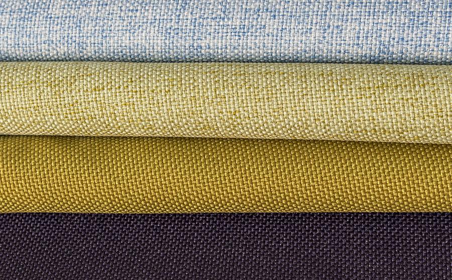 hochwertiger Polyester Objektstoff, schwerentflammbar und akustisch wirksam