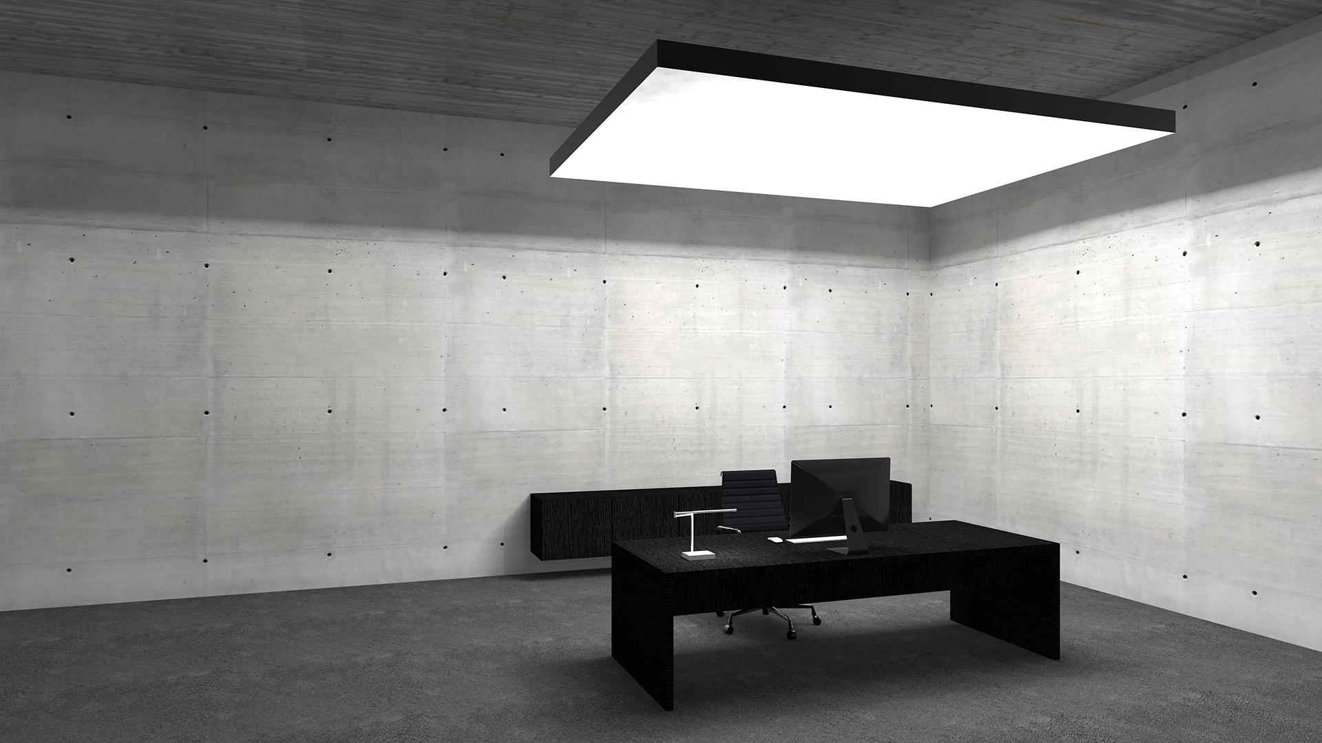 LED Lichtdecken für Arbeitsplätze, akustisch Wirksam