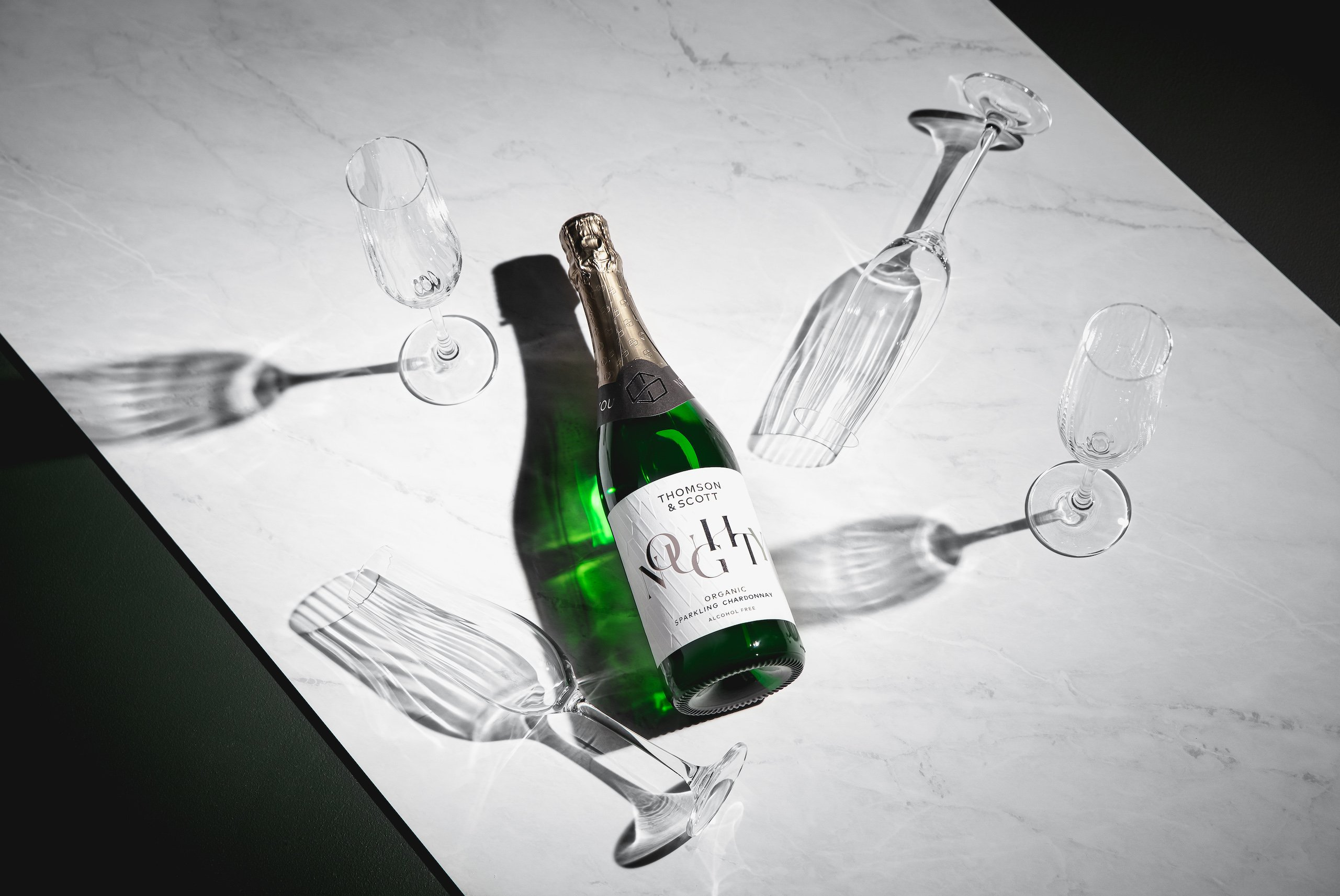 """Marie Claire Magazine in Australia says that Thomson & Scott have """"changed the game with their non-alcoholic take on sparkling wine"""" citing """"bubbles and flavour, just sans the killer hangover."""""""