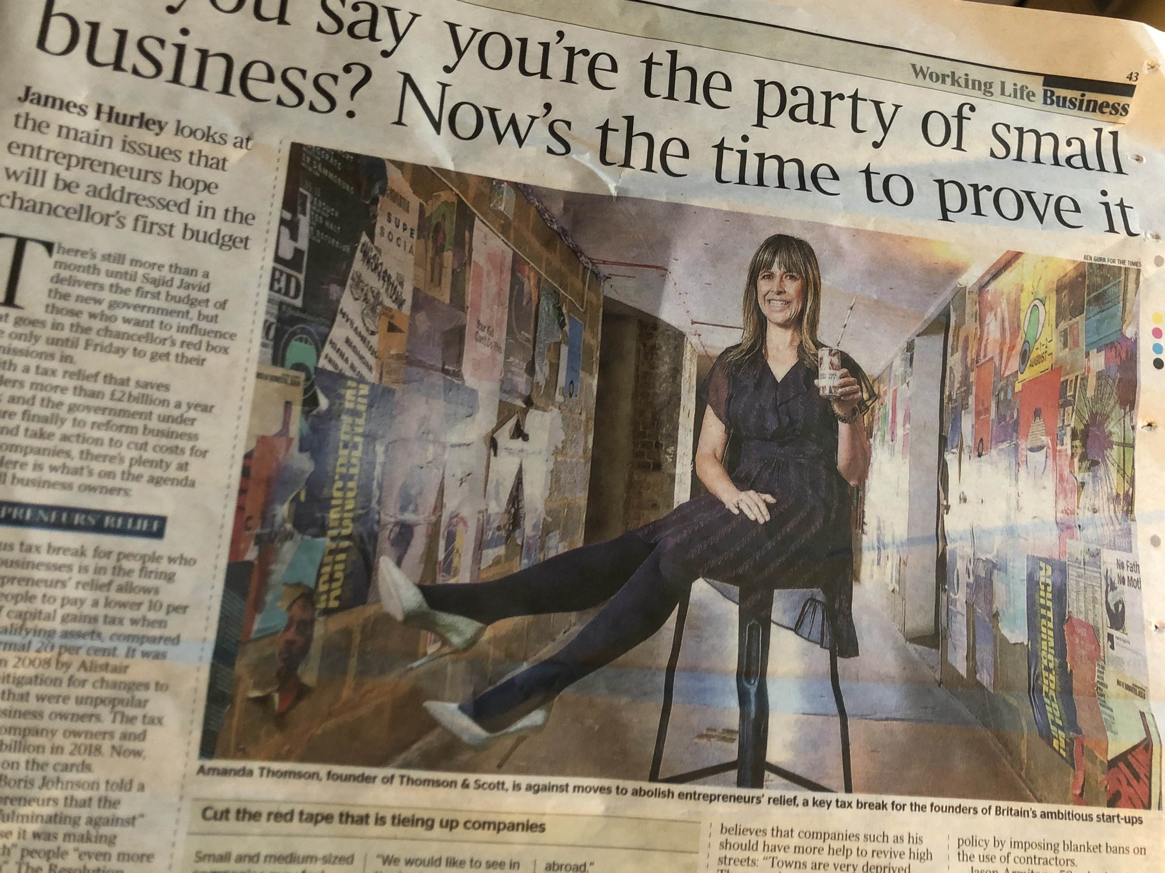 As an entrepreneur working to build an international brand, I was horrified to hear that the UK government was considering shutting down the Entrepreneurs' Relief in the next budget. So, with a petition to government and whopping news feature in today's Times, we're hoping to have our voice heard in Parliament.