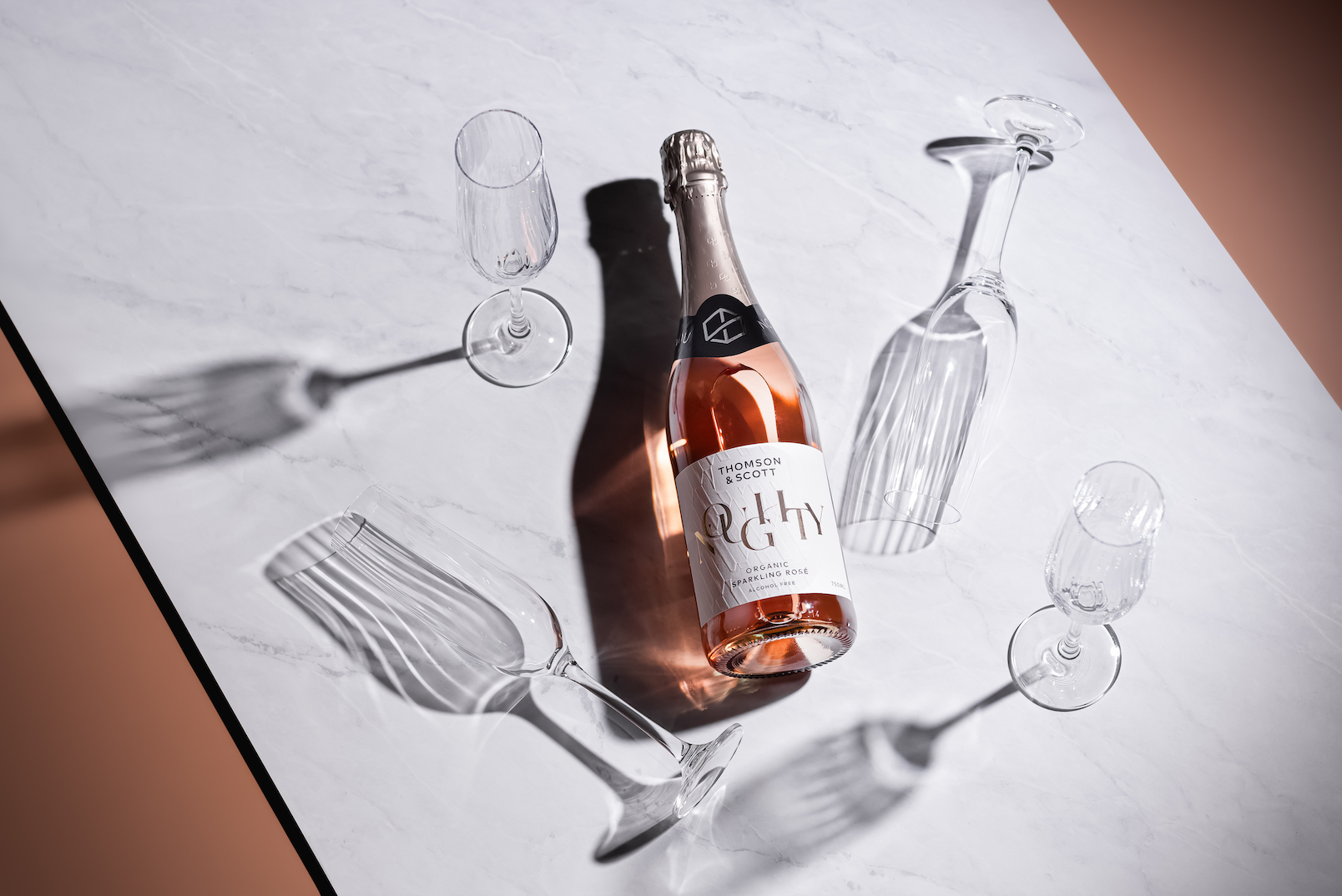 In 2019 British entrepreneur Amanda Thomson launched NOUGHTY Chardonnay, the first alcohol-free organic, vegan sparkling chardonnay with almost half the sugar content of traditional alcohol-free sparkling wines, carving out a new segment of the drinks market. This spring she is revolutionising the drinks industry again to produce Noughty Rosé alcohol-free organic, vegan sparkling.