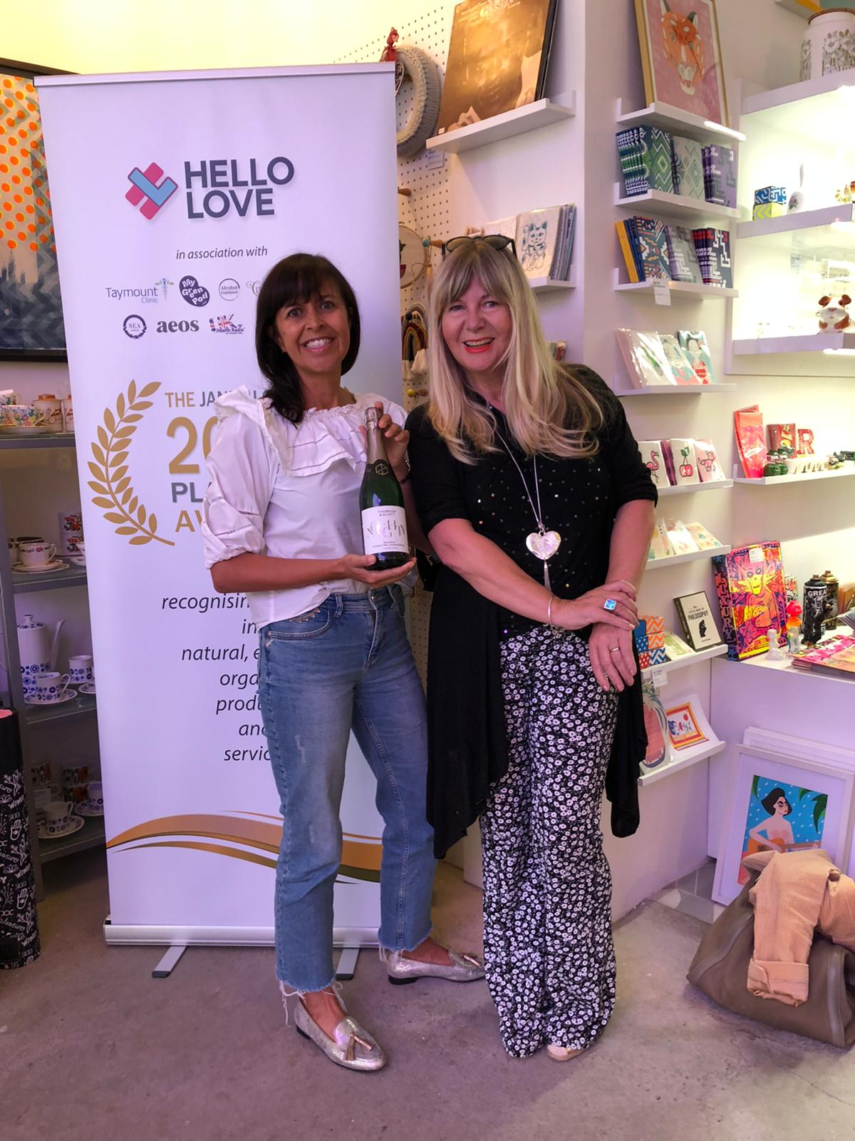 We celebrated a special morning today, toasting with Thomson & Scott Noughty Alcohol-Free and Janey Lee Grace at her Platinum Janey Loves Awards at the Hello Love Studio in Bloomsbury.
