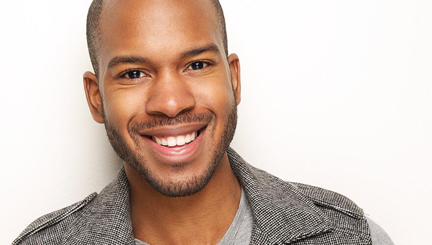 Man smiling after a CEREC treatment at Hixson Dental