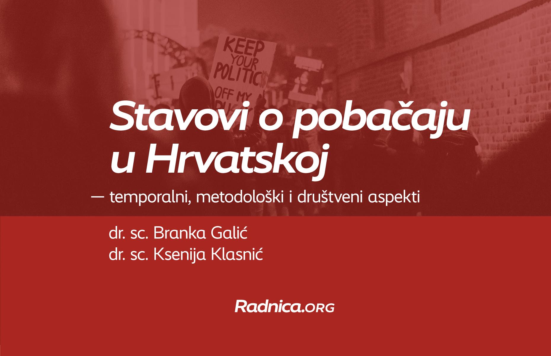 """VIDEO izlaganja """"Stavovi o pobačaju u Hrvatskoj – temporalni, metodološki i društveni aspekti"""""""