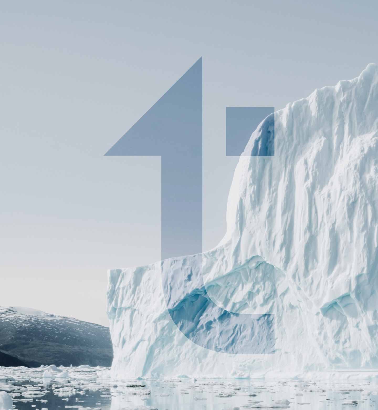 Image of an iceberg floating in water