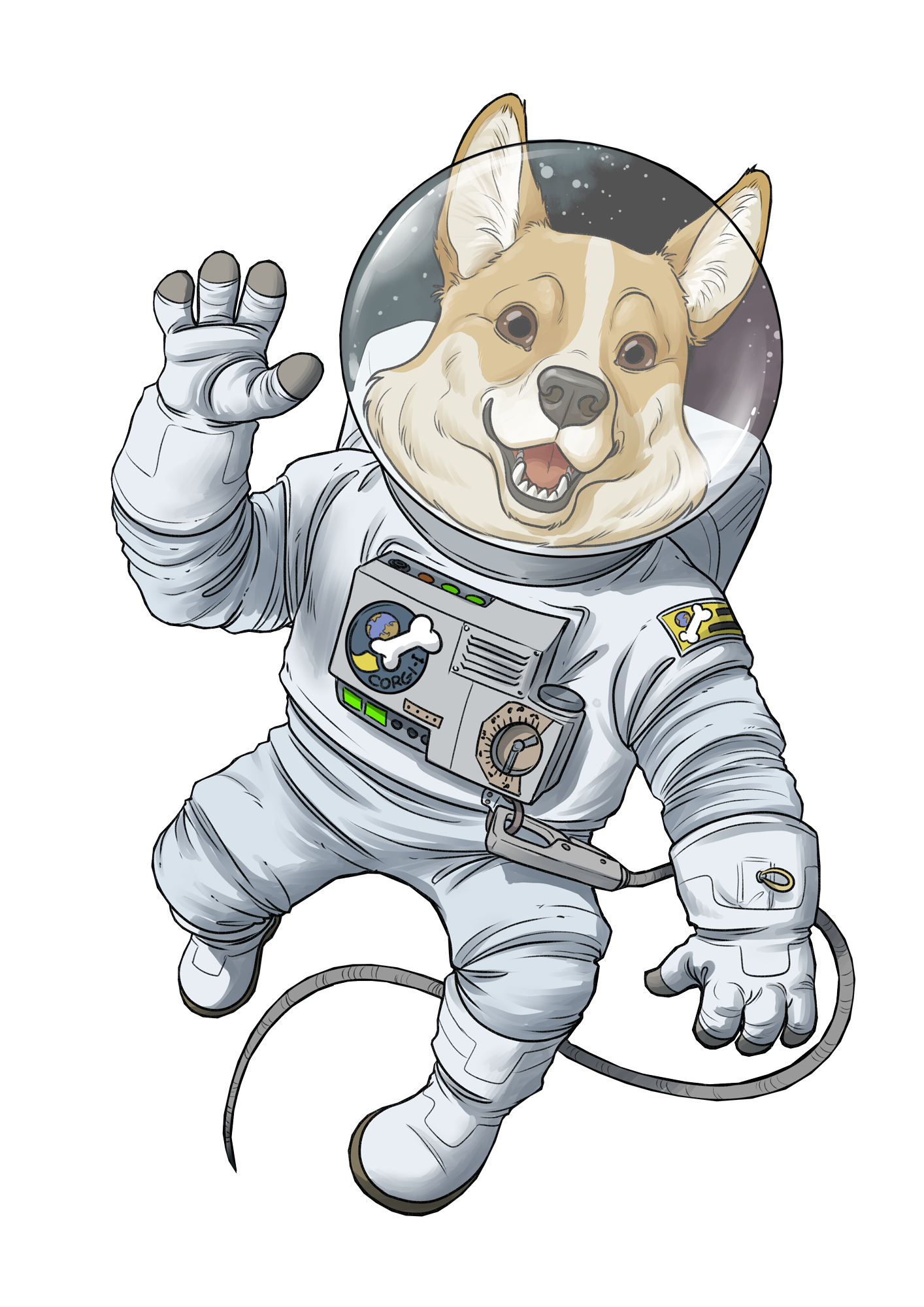 space corgi astronaut