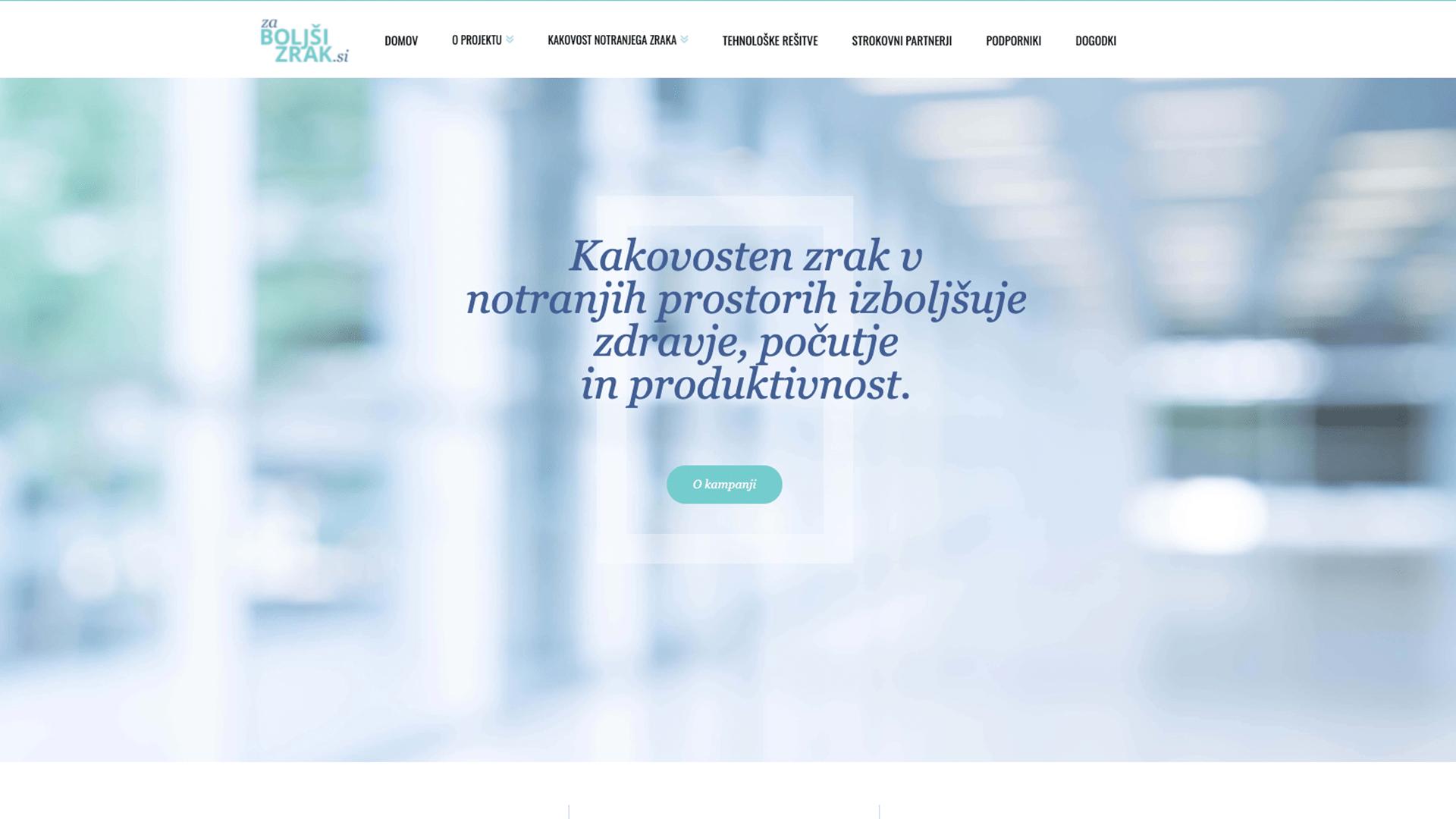 Za boljši zrak: Izdelava spletne strani