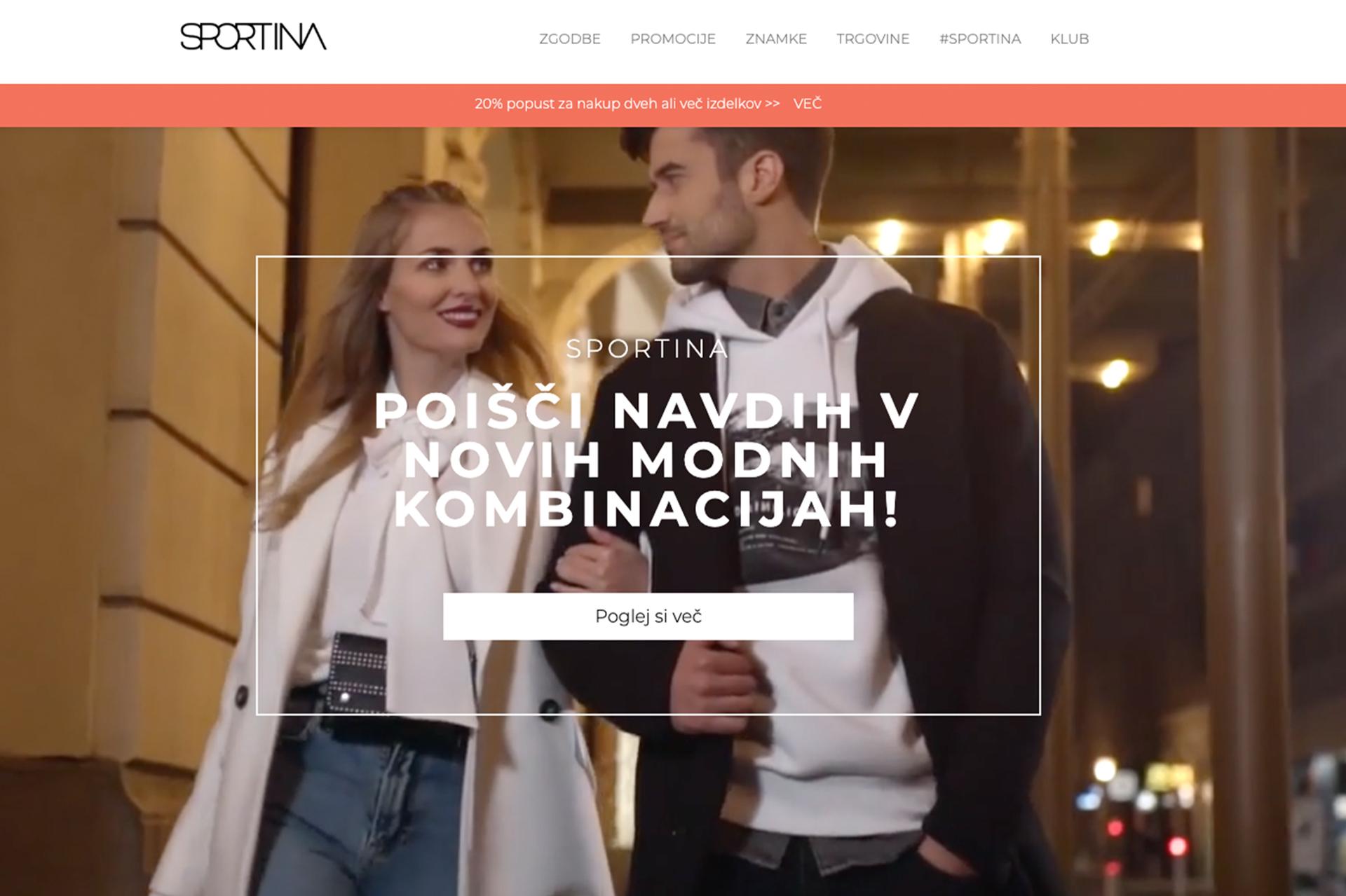 Sportina Fashion: Postavitev spletnega mesta