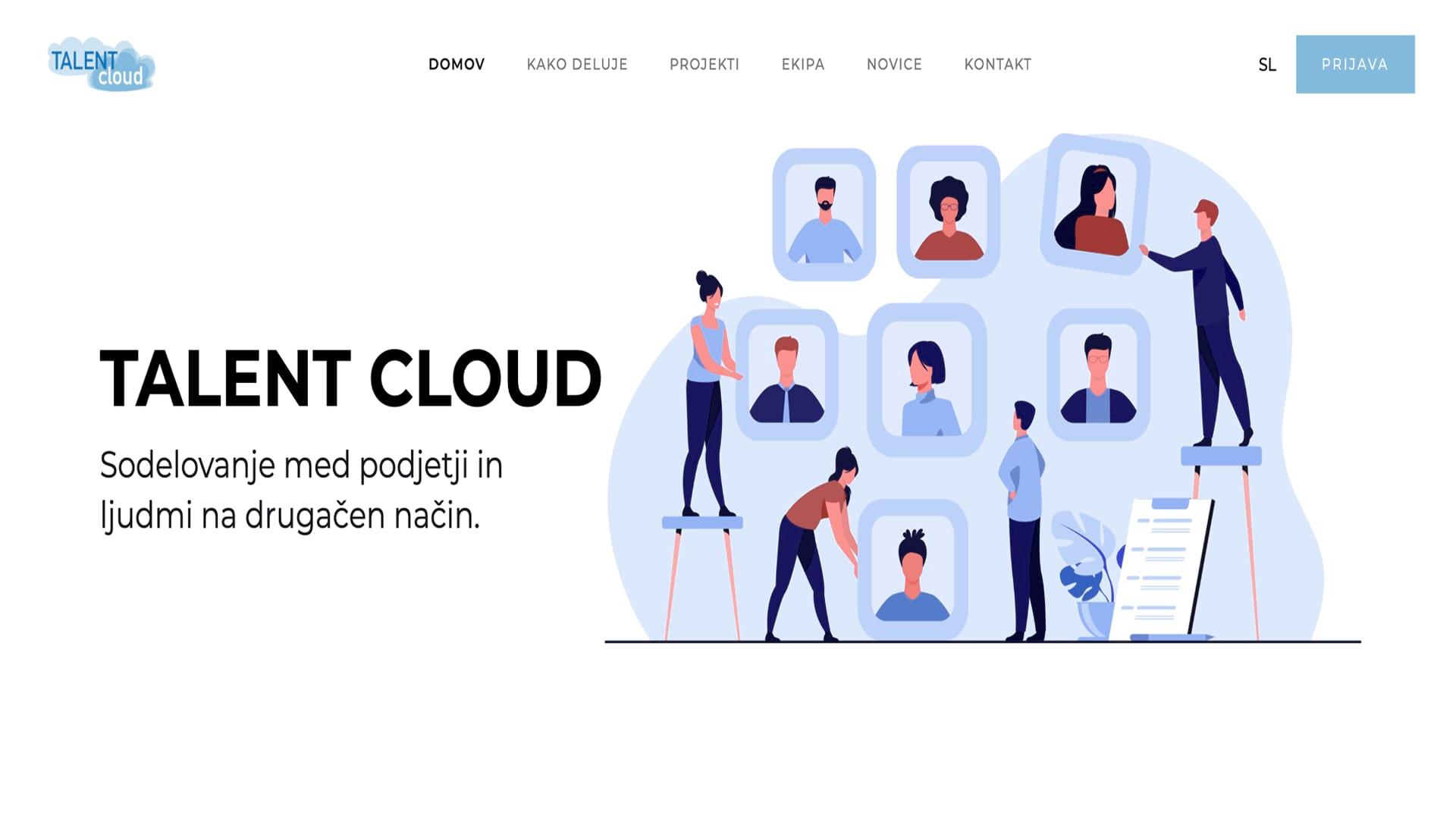 Talent Cloud: Website design