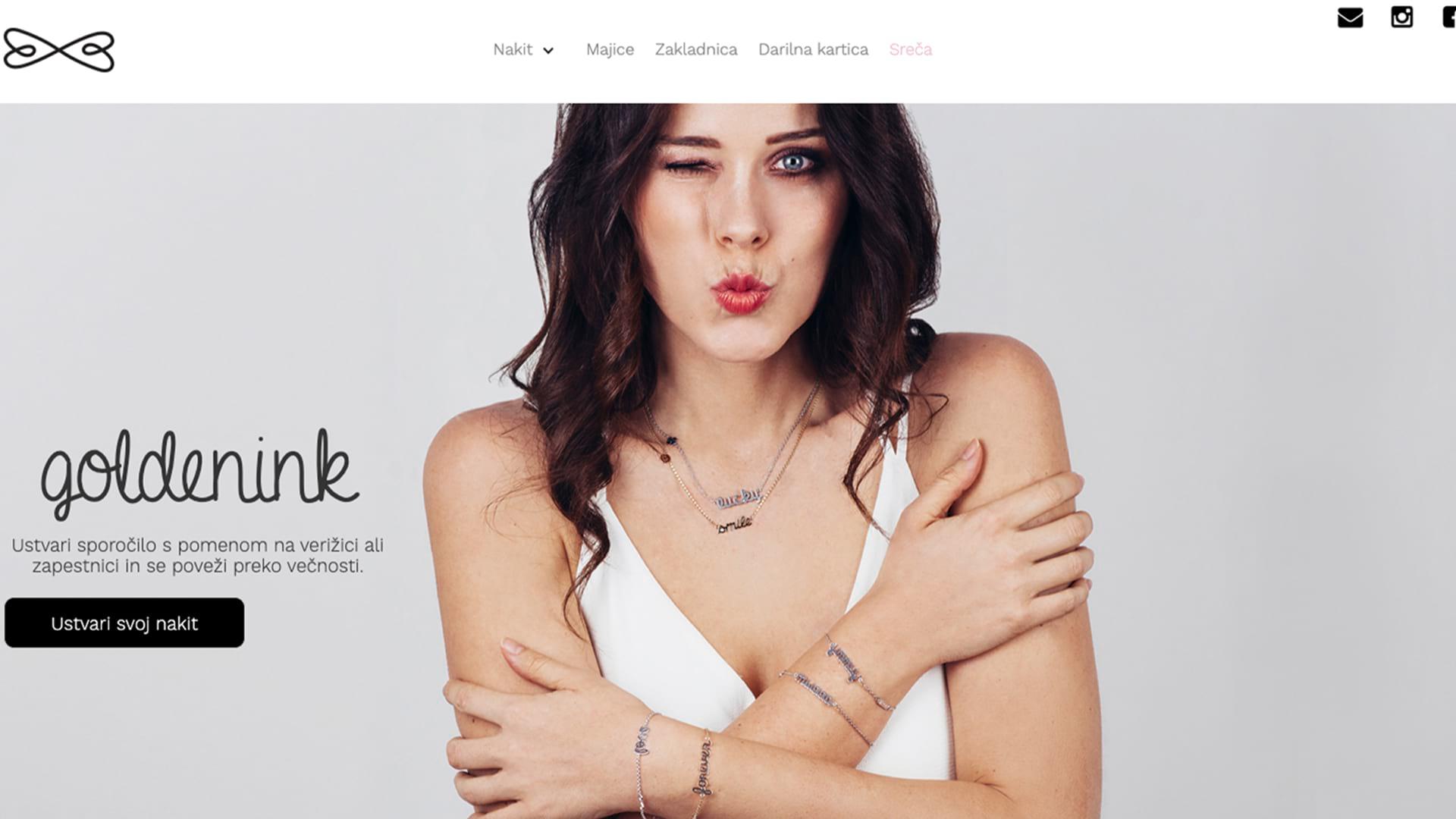 GoldenInk: Postavitev spletne trgovine