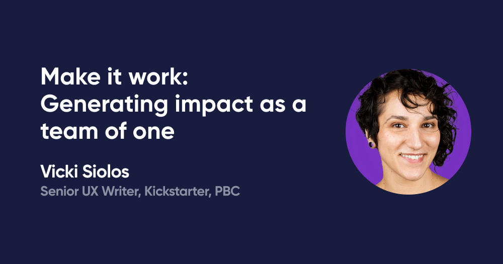 Make it work: Generating impact as a team of one