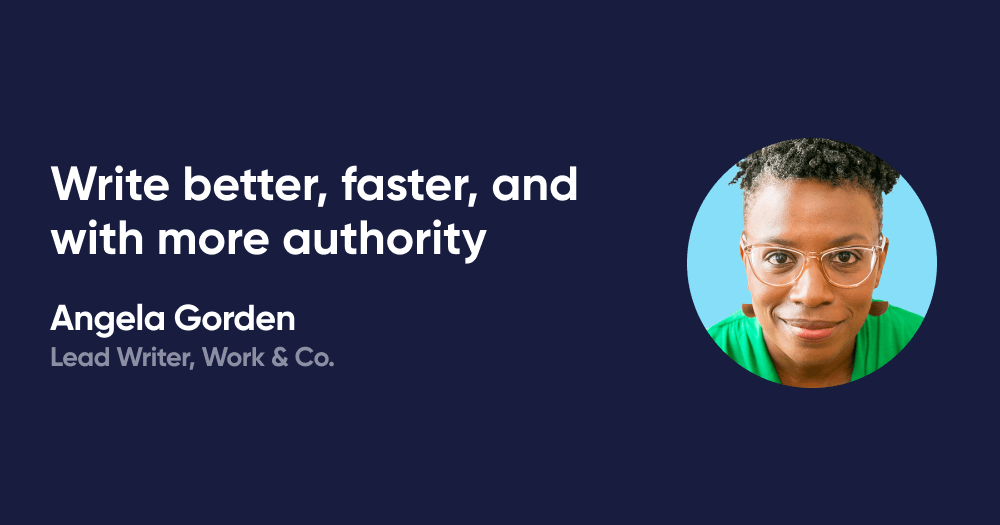 Write better, faster, and with more authority