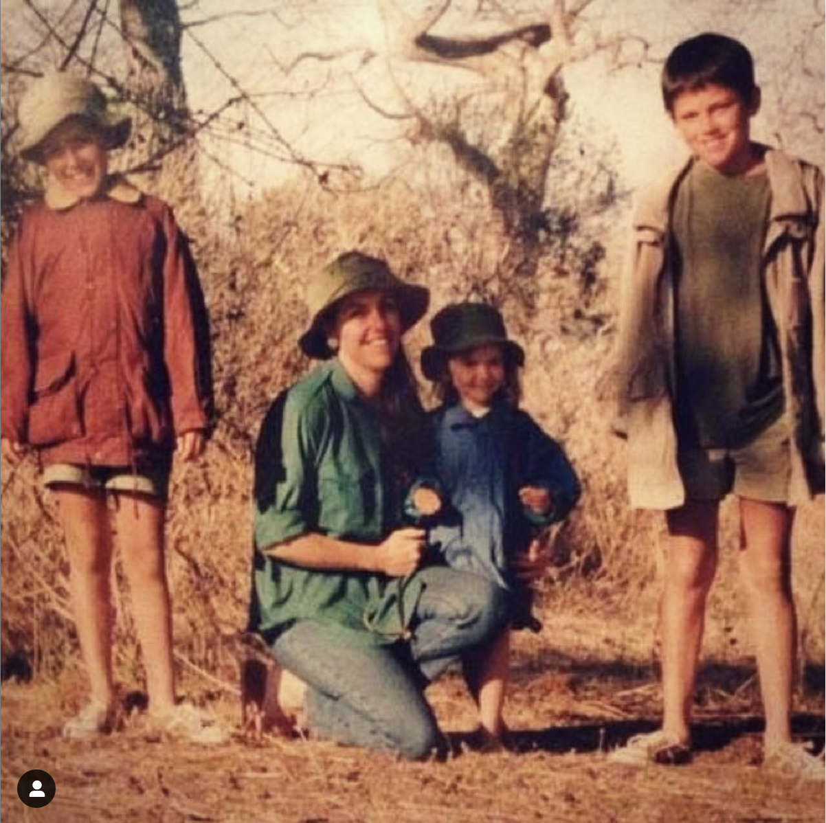 Hattie with her Mum and brothers in Kenya, where she grew up.