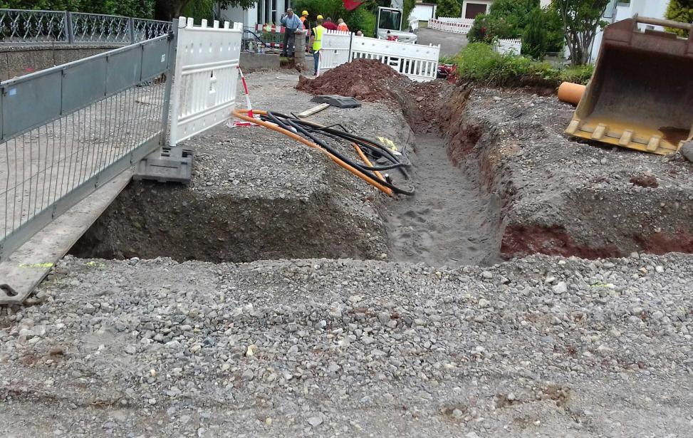 Erneuerung von Kanal, Wasserleitung und Straßenoberbau - Tiefenbronn