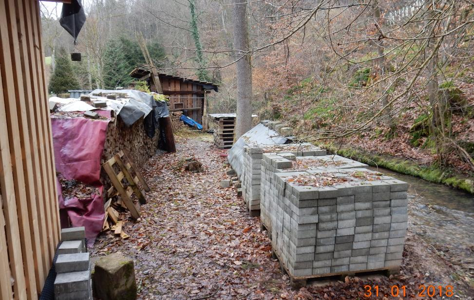 Durchführung der Gewässerschau in der Gemeinde Lichtenwald