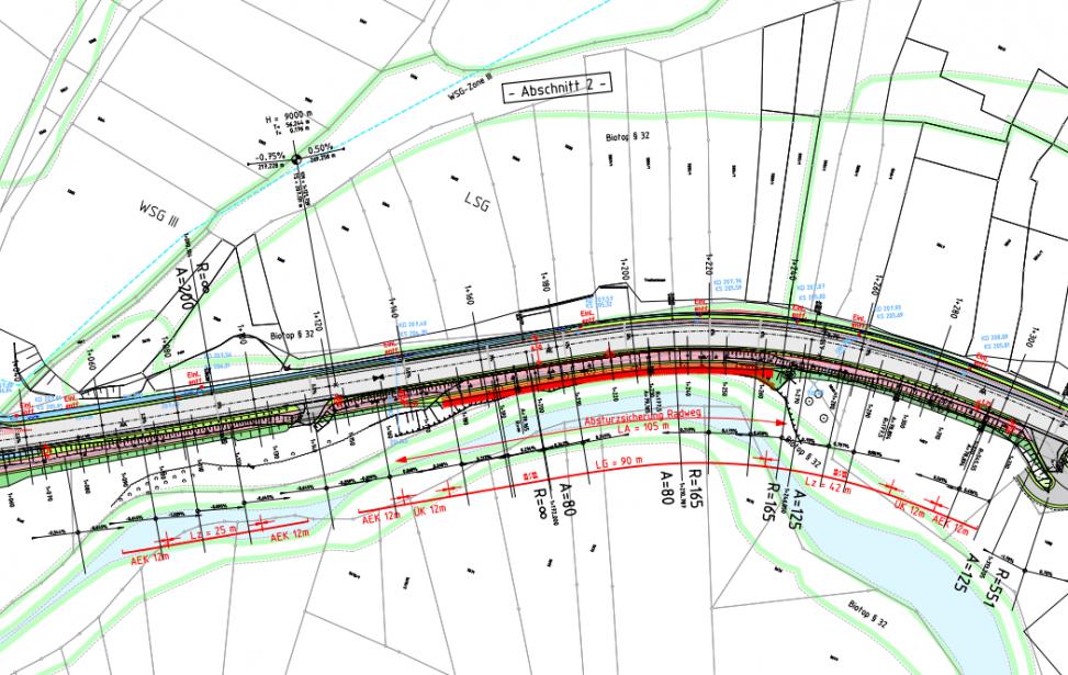 Neubau eines Geh- und Radweges entlang der K 1834 zwischen, der K 1606 und Kirchberg/ Murr