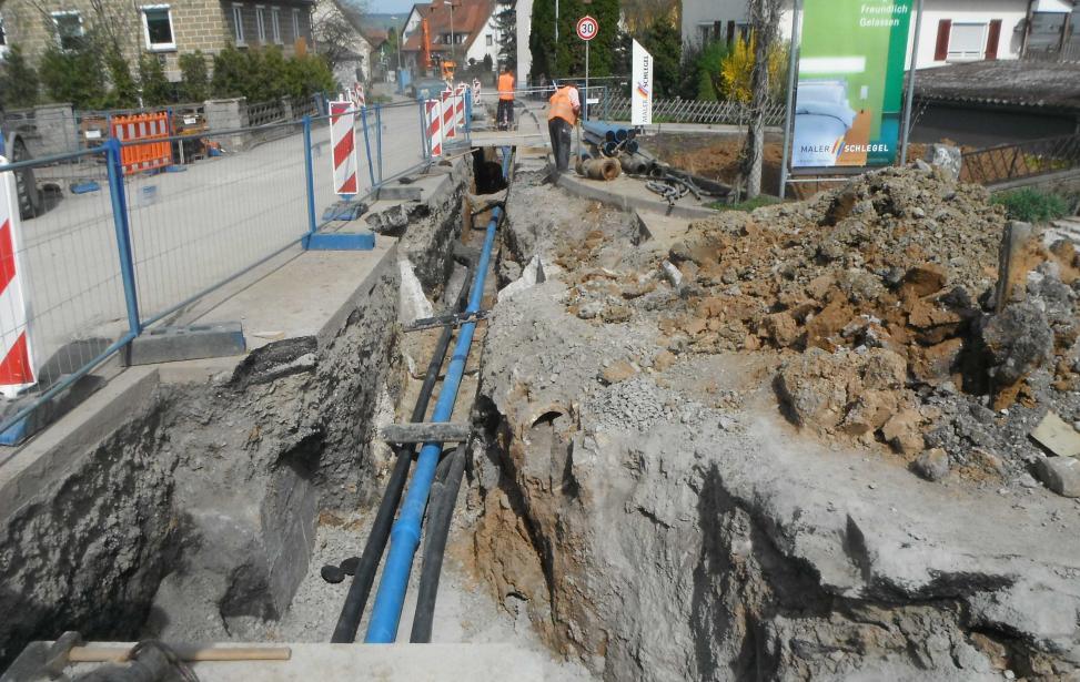 Erneuerung der Wasserleitungen in Kernen-Stetten