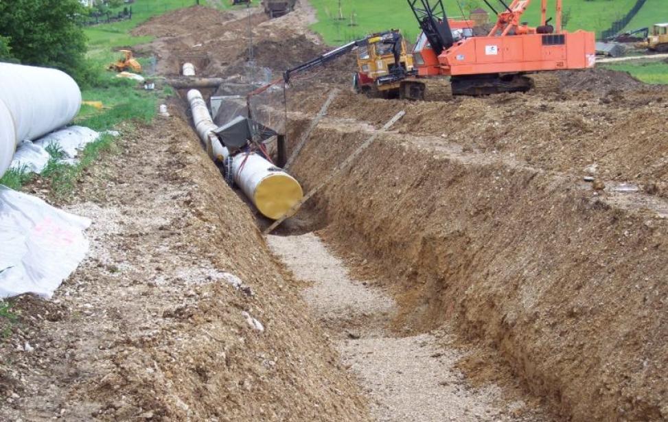 Trassenerkundung Wasserleitung Osterbuch