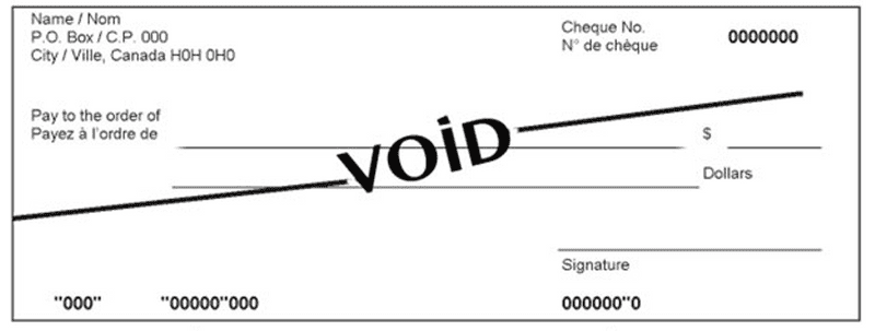 example of a void check
