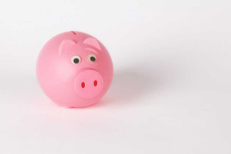 photo of a pink piggy bank for PolicyMe's article on rainy day funds
