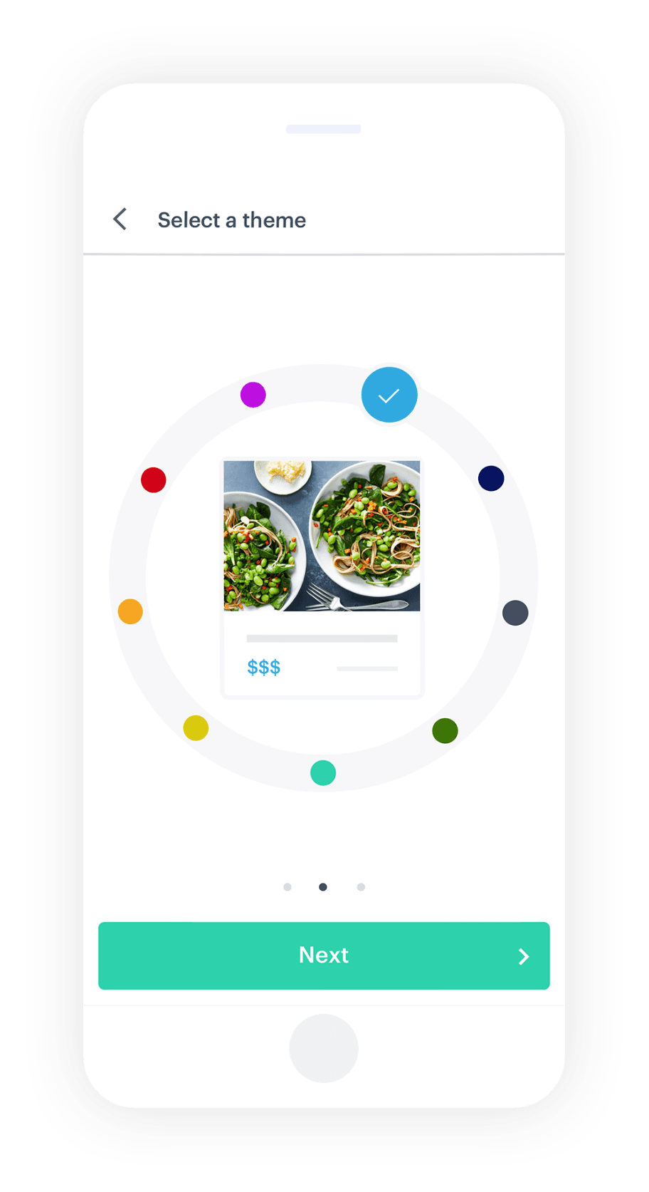 Selecting a theme for your menu