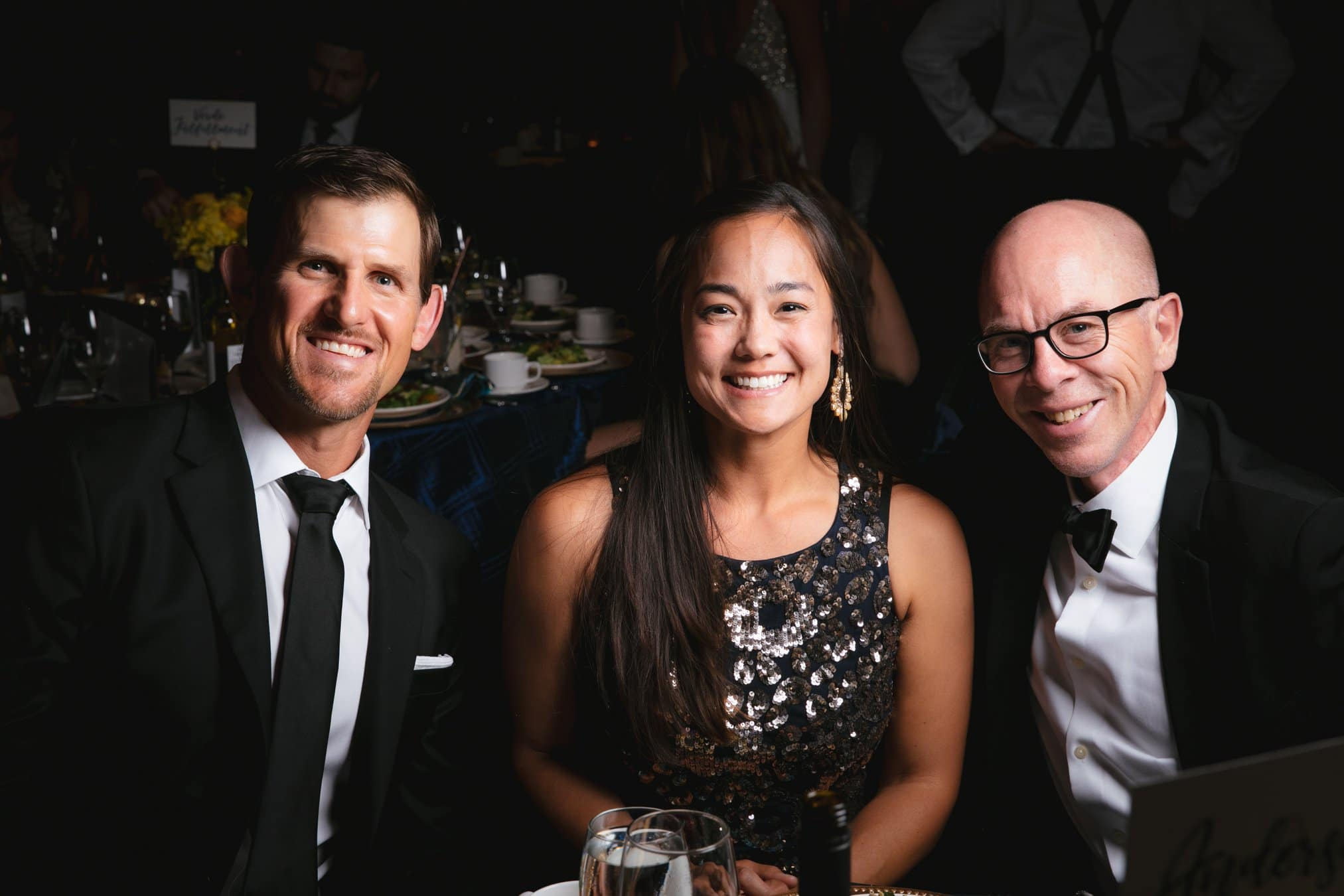 Photo of a few attendees at a beautiful FUNDSY Gala event