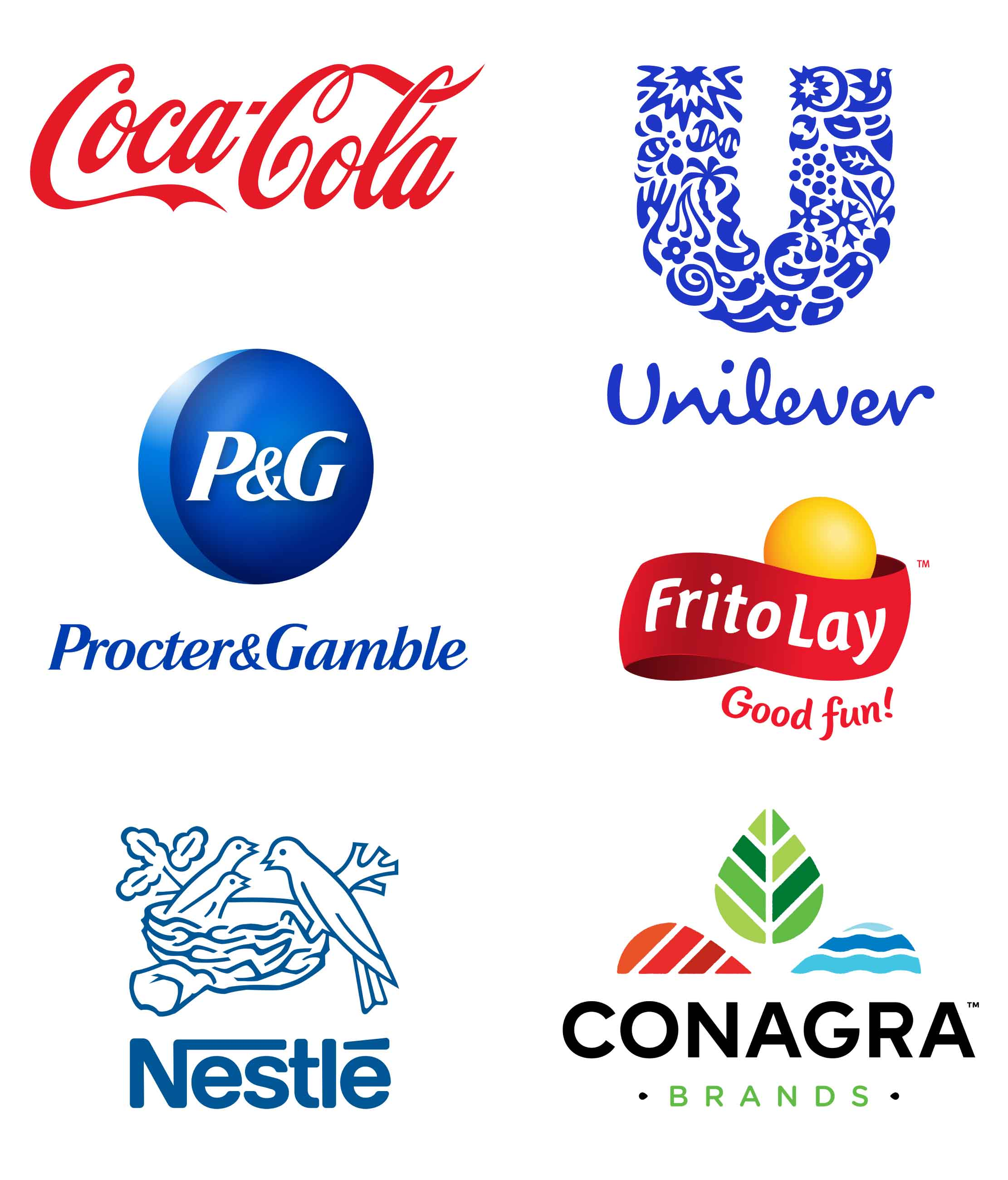 CPG Company Logo Collage